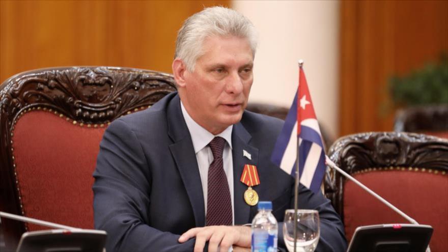El presidente de Cuba, Miguel Díaz-Canel, en un acto en Hanói, Vietnam, 9 de noviembre de 2018. (Foto: Reuters)