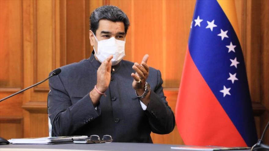 El presidente de Venezuela, Nicolás Maduro, durante el Foro Internacional Carabobo Siglo XXI, 18 de junio de 2021.
