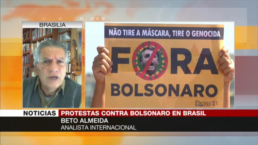 """COVID-19 castiga duro a Brasil, pero Bolsonaro mantiene su """"locura"""""""