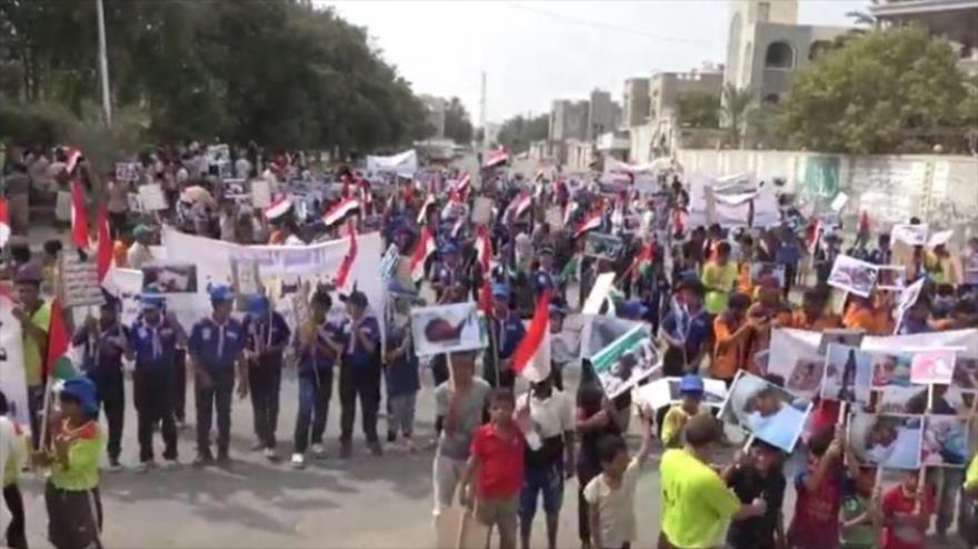 Vídeo: Niños yemeníes rechazan medida de ONU contra Ansarolá