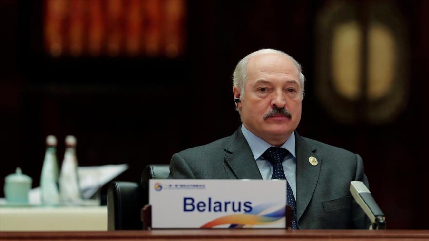 El presidente bielorruso, Alexander Lukashenko, en una conferencia en Pekín, capital de China, 15 de mayo de 2017. (Foto: Reuters)