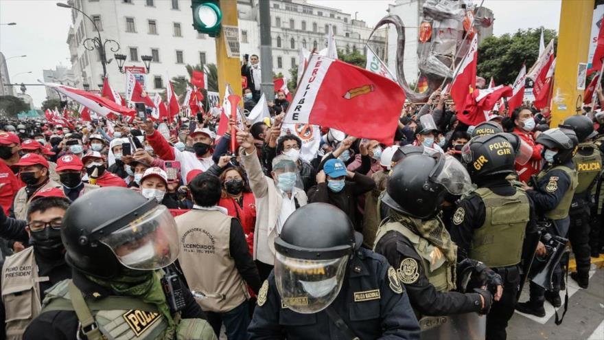 Disturbios tras las elecciones presidenciales en Perú, junio de 2021. (Foto: La República)