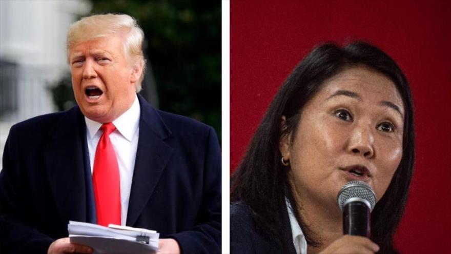Expresidente de EE.UU. Donald Trump y la candidata presidencial peruana Keiko Fujimori.