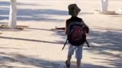 Vídeo: Niño palestino asusta a israelíes con su pistola de juguete