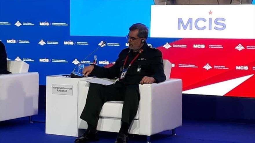 General de brigada iraní Mehdi Rabani en la IX Conferencia Internacional de Seguridad de Moscú, 23 de junio de 2021.