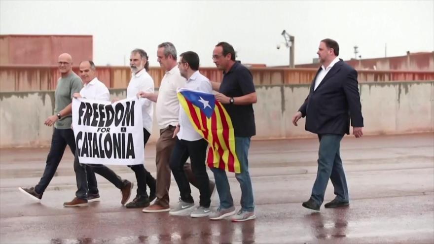 """España aprobó indultos para presos del """"procés"""" catalán"""