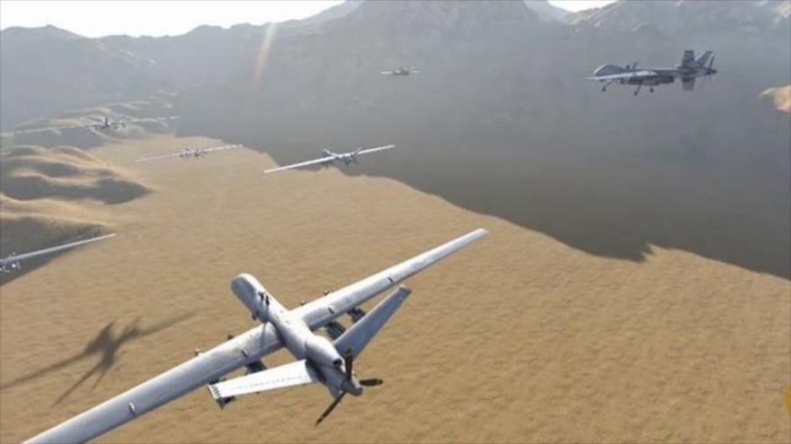 Una imagen representativa de los drones yemeníes.