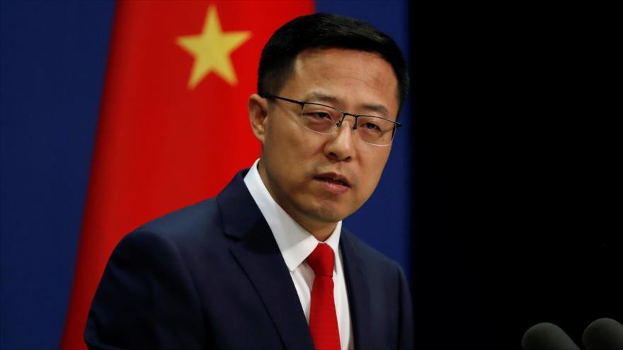 Zhao Lijian, el portavoz de la Cancillería china, en una conferencia de prensa en Pekín, la capital, 10 de septiembre de 2020. (Foto: Reuters)