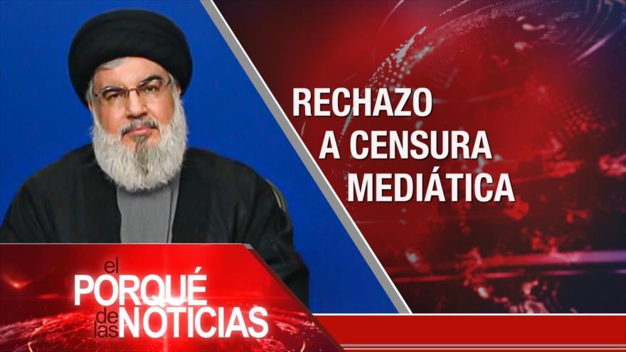 El Porqué de las Noticias: Rechazo a censura mediática. Contra el expansionismo israelí. Incertidumbre en Perú