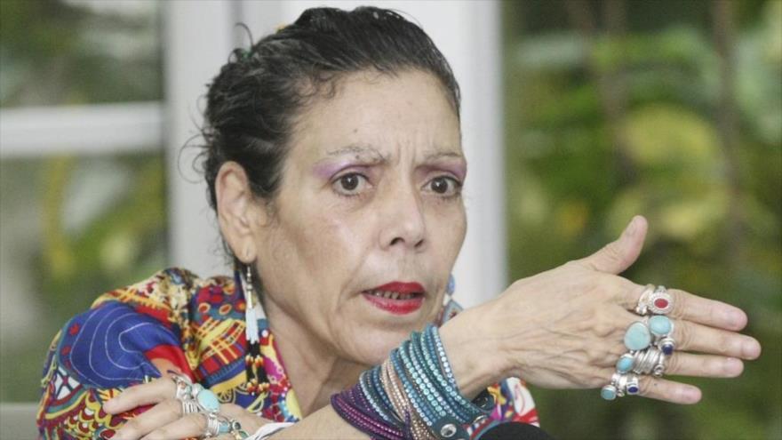 La vicepresidente de Nicaragua, Rosario Murillo.