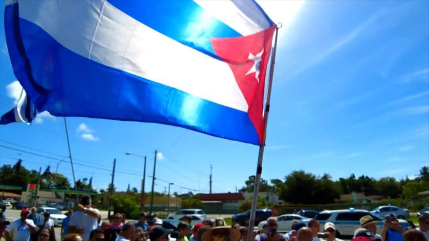 Miami protesta contra la injusticia de bloqueo de EEUU contra Cuba