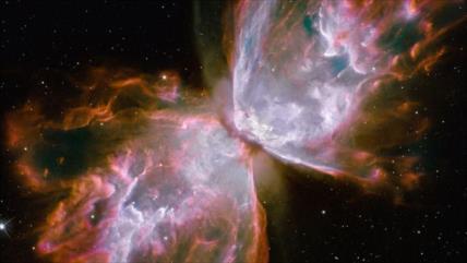 NASA publica espectacular imagen de una violenta mariposa cósmica