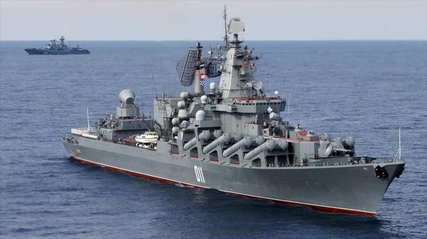 Crucero de misiles Varyag, buque insignia de la Flota del Pacífico de Rusia.