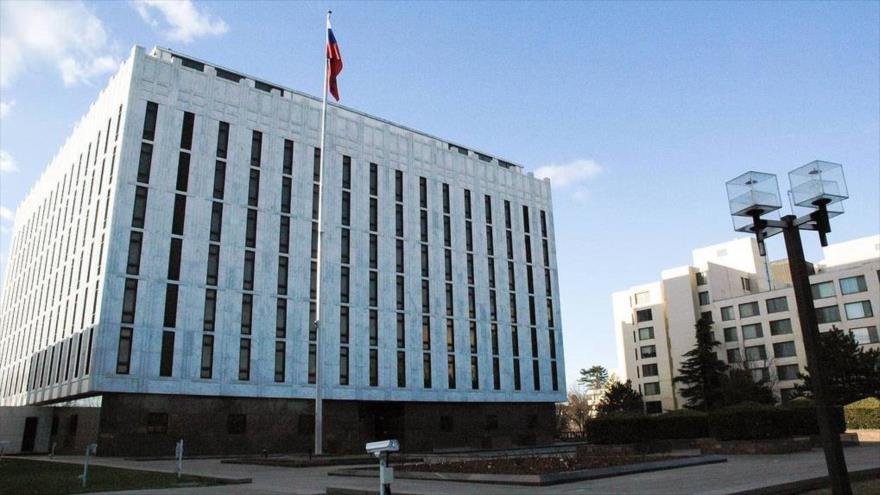 La embajada de Rusia en EE.UU., ubicada en Washington D.C., la capital estadounidense.