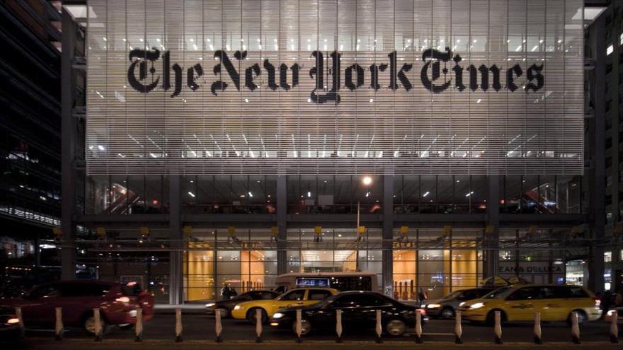 El edificio del diario estadounidense The New York Times (NYT) en la ciudad de Nueva York, EE.UU.