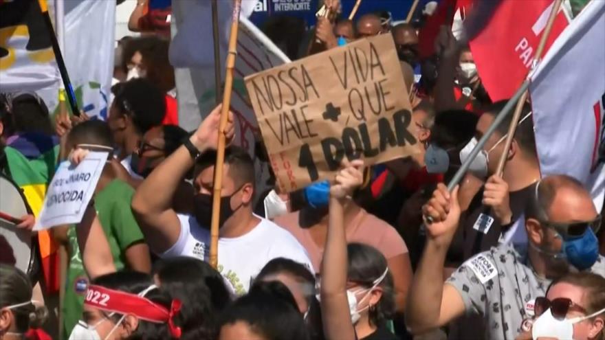 Una y otra vez el indignado Brasil pide impeachment a Bolsonaro