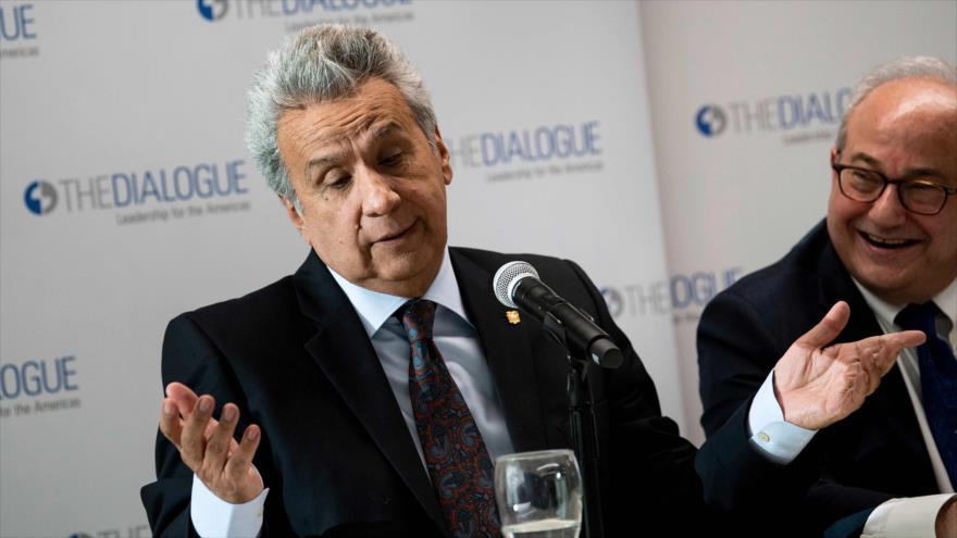 El presidente de Ecuador, Lenín Moreno, durante un acto en Washington, capital de EE.UU., 16 de abril de 2019. (Foto: AFP)