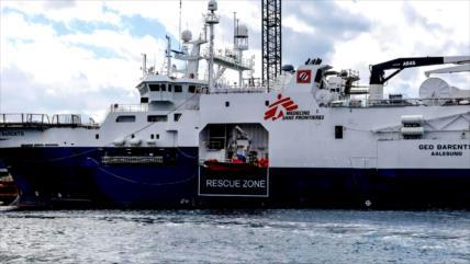 MSF exige a Italia que libere su barco de rescate de migrantes