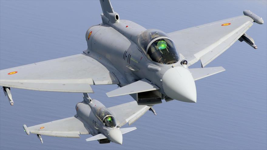 Aviones de combate Eurofighter Typhoon, del Ejército del Aire español, en pleno vuelo. (Foto: Eurofighter.com)