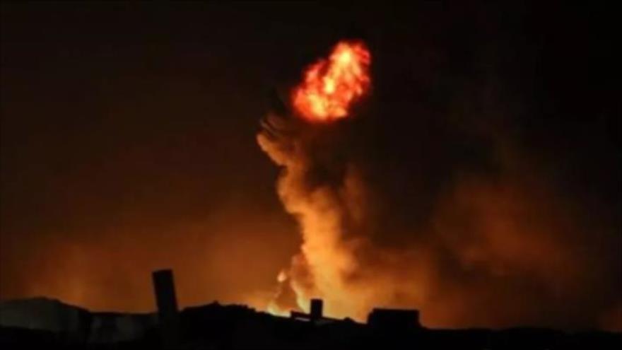 Lluvia de cohetes impactan en la base de EEUU en Erbil, Irak