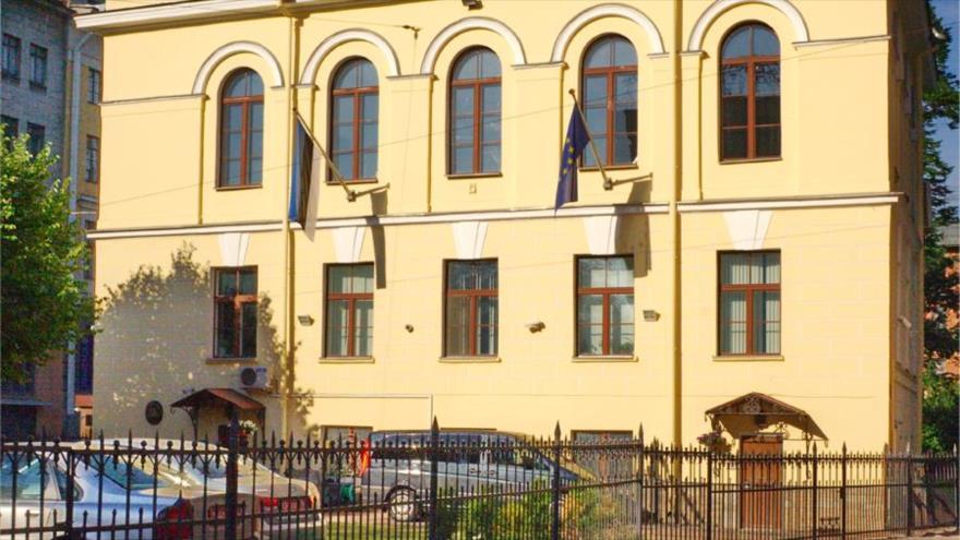 Consulado general de Estonia en San Petersburgo, oeste de Rusia.