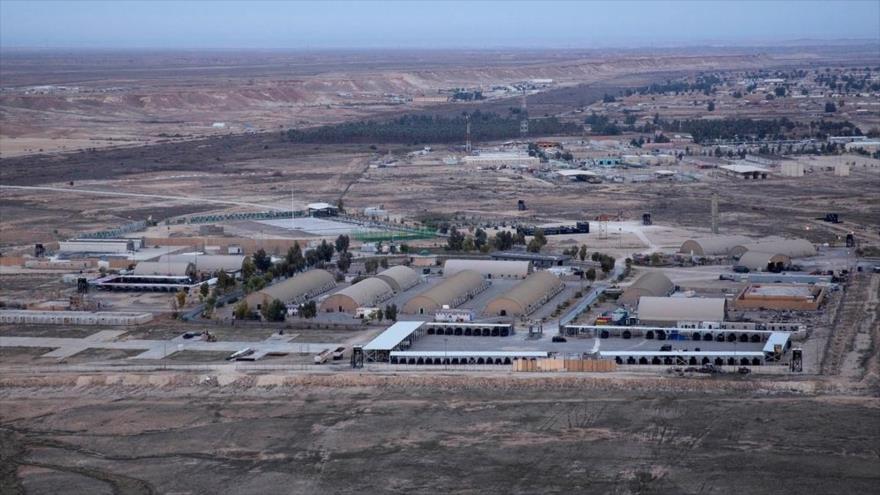 La base militar estadounidense de Ain Al-Asad,en Al-Anbar, Irak, 29 de diciembre de 2019. (Foto: AP)