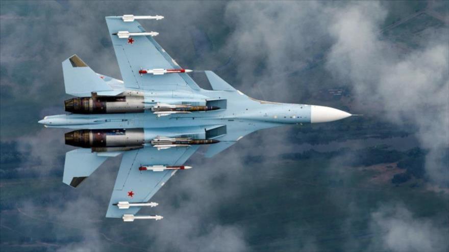 Vídeo: Cazas rusos interceptan avión agresor de EEUU en Siria