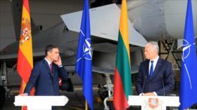 Vídeo: 'Amenaza aérea rusa' interrumpe rueda de prensa de Sánchez