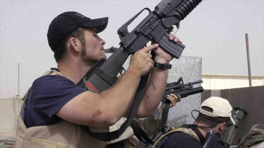 Mercenarios de Blackwater en la ciudad iraquí de Nayaf.