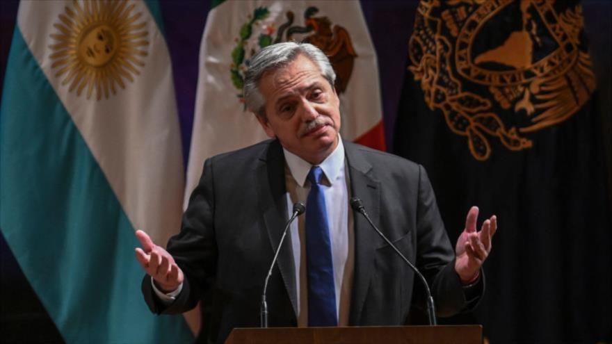 El presidente electo de Argentina, Alberto Fernández, en un acto celebrado en México, el 5 de noviembre de 2019. (Foto: AFP)