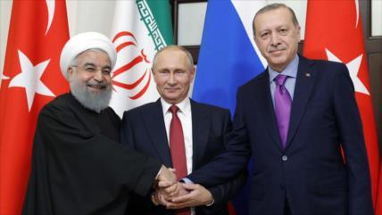 Alianza Irán-Rusia-Turquía cierra filas contra terrorismo en Siria