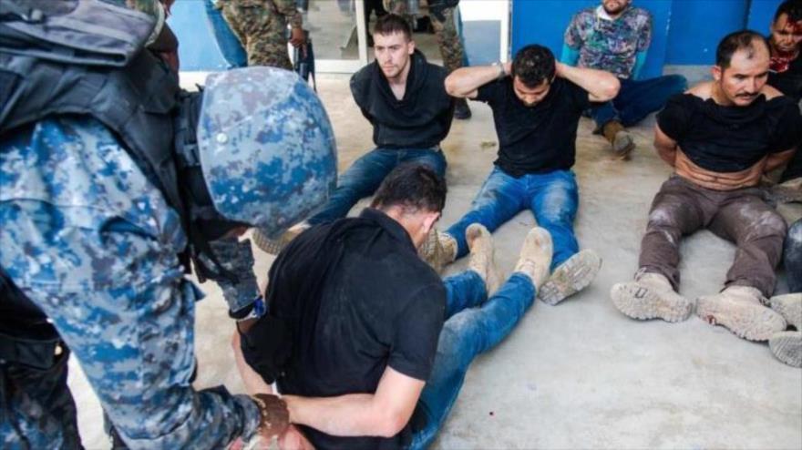 Los detenidos por el asesinato del presidente de Haití, Jovenel Moïse, 9 d julio de 2021. (Foto: EFE)