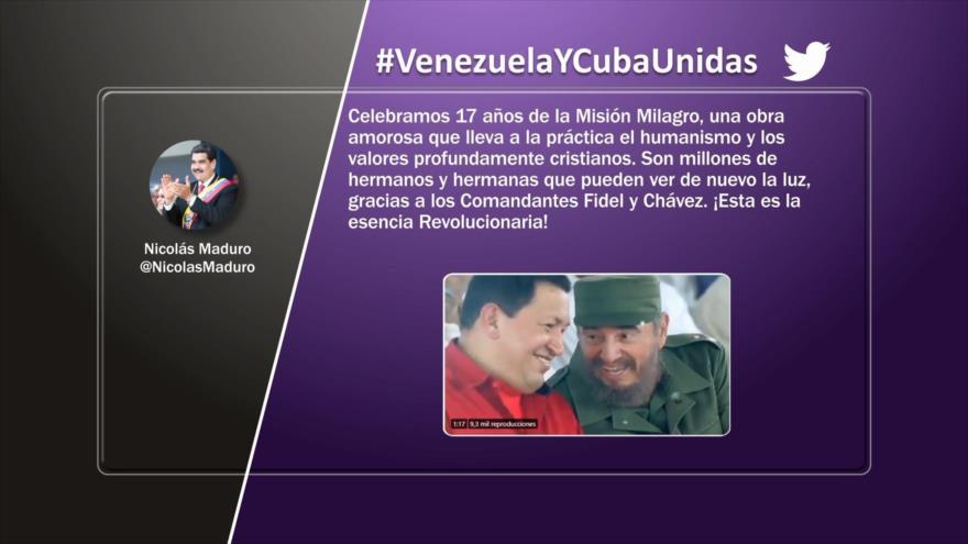 Etiquetaje: Venezuela y Cuba unidas en Misión Milagro