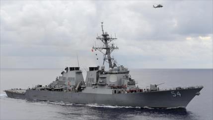 Duelo en mar de China Meridional: Expulsan buque de guerra de EEUU