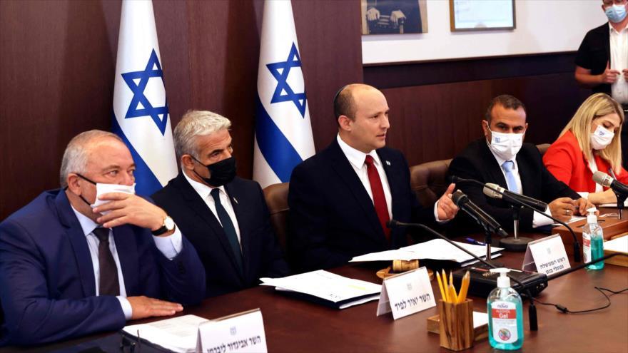 Una sesión del gabinete israelí en Al-Quds (Jerusalén), 11 de julio de 2021. (Foto: AFP)