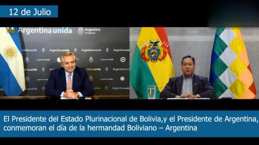 Fernández condena ante Arce apoyo de Macri a golpistas en Bolivia   HISPANTV
