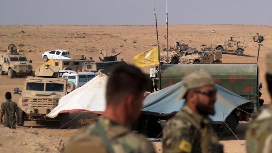 Una base de las fuerzas de coalición liderada por EE.UU. y la milicia aliada de las FDS cerca de la localidad de Al-Susah, en Deir Ezzor. (Foto: AFP)