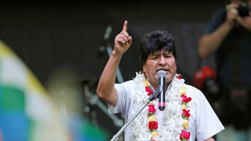 Expresidente de Bolivia Evo Morales pronuncia discurso en un acto. (Foto: Reuters)