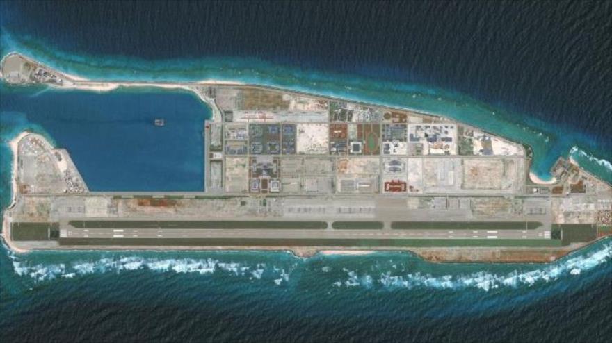 El arrecife Fiery Cross, parte de las islas Spratly en el mar de la China Meridional. (Foto: Getty Images)
