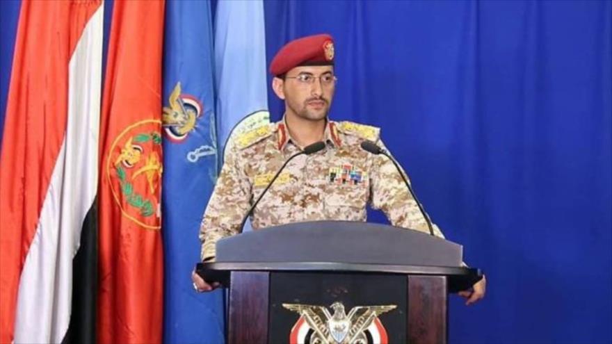 El portavoz del Ejército de Yemen, el teniente general Yahya Sari.