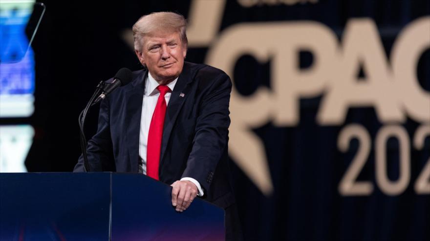 El expresidente de Estados Unidos Donald Trump, en la Conferencia de Acción Política Conservadora, Dallas, Texas, 11 de julio de 2021. (Foto: AFP)
