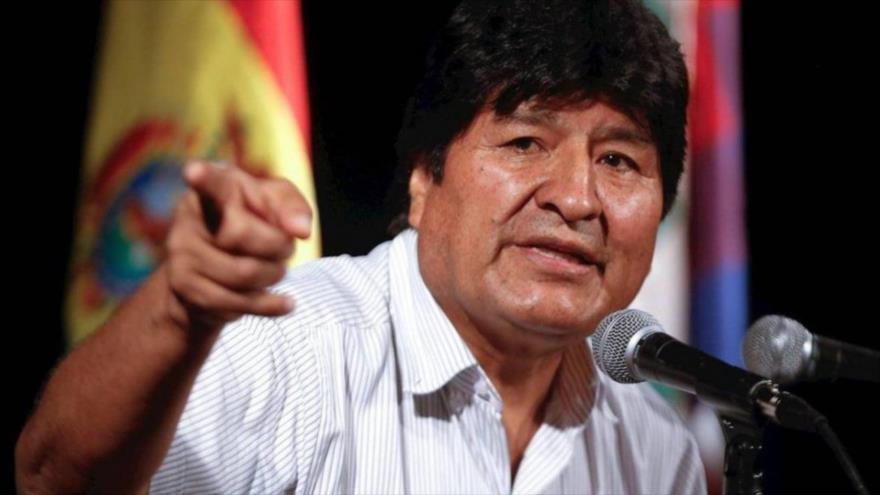 El expresidente de Bolivia, Evo Morales, durante un mitin.