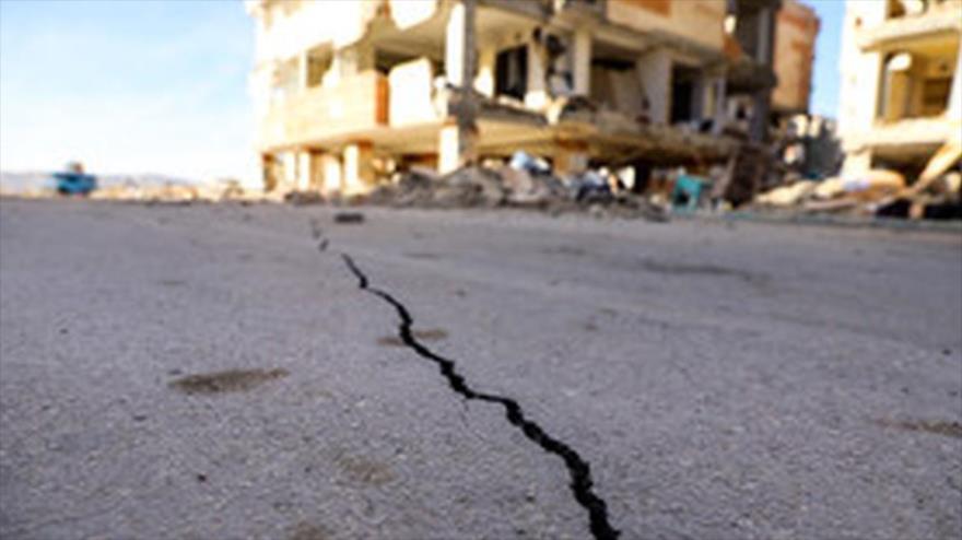 Imagen de una zona afectada por un terremoto que sacudió la provincia iraní de Fars en 2020.