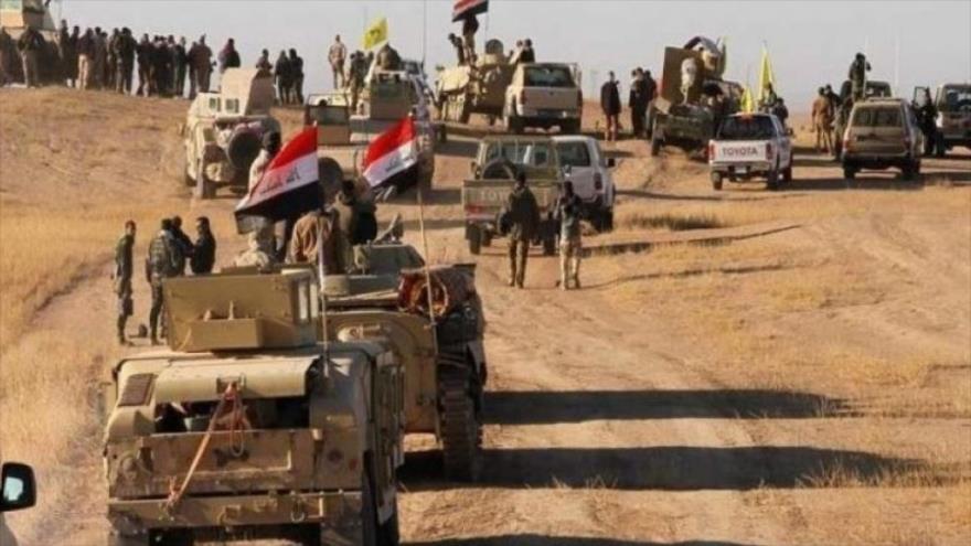 Las Unidades de Movilización Popular de Irak durante una operación en el oeste del país.