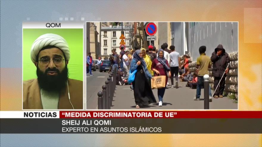 Qomi: Prohibición del velo islámico es una humillación y discriminación
