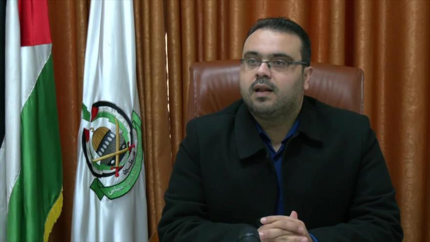 Hazem Qasem, un portavoz del Movimiento de Resistencia Islámica de Palestina (HAMAS).