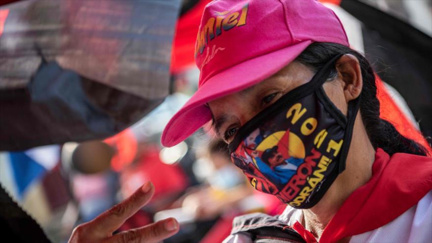 Nicaragüenses celebran el 42 aniversario del triunfo de la Revolución Sandinista, 18 de julio de 2021. (Foto: AFP)