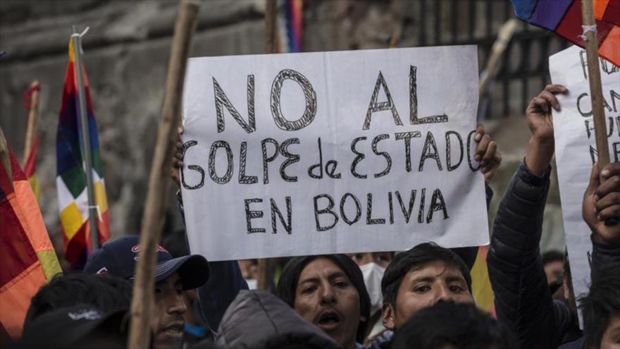 Partidarios del expresidente Evo Morales protestan contra el golpe de Estado en Bolivia, noviembre de 2019. (Foto: Getty Images)