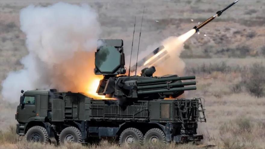 Un sistema de defensa antimisiles Pantsir-S, de fabricación rusa.
