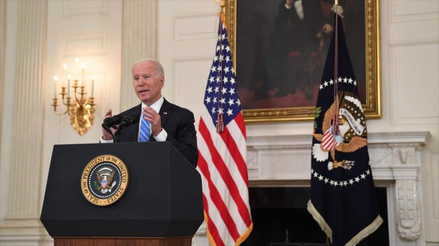 El presidente estadounidense, Joe Biden, habla durante una conferencia, La Casa Blanca, Washington DC, 19 de julio de 2021. (Foto: AFP)